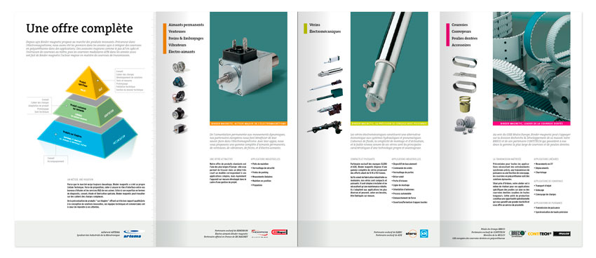 Binder Magnetic brochure ouvert