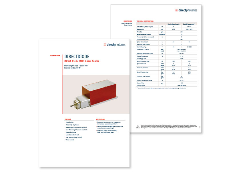 DirectPhotonics product sheet