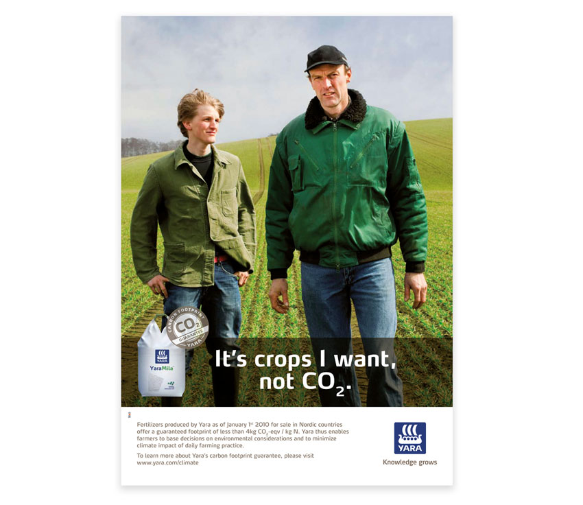 Yara Carbon footprint ad