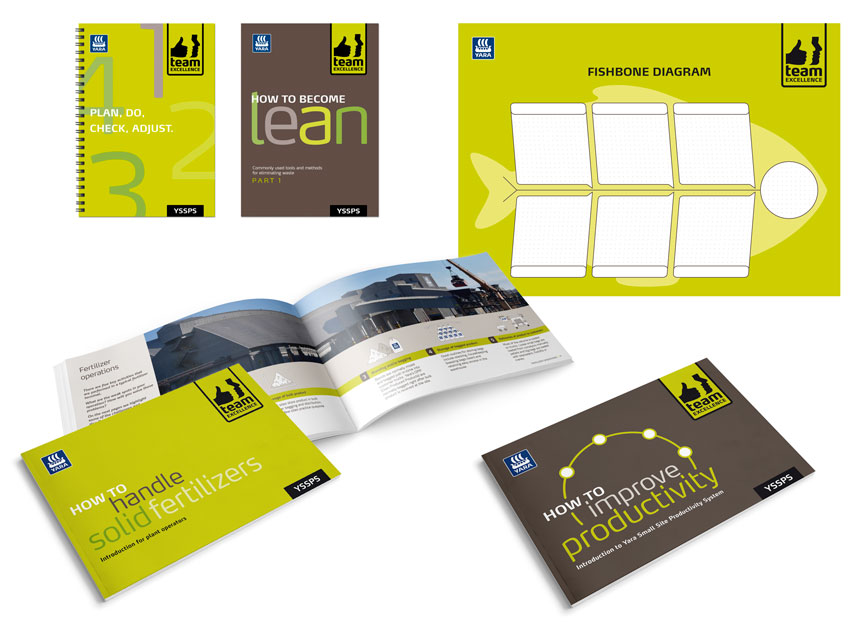 Team excellence brochures posters