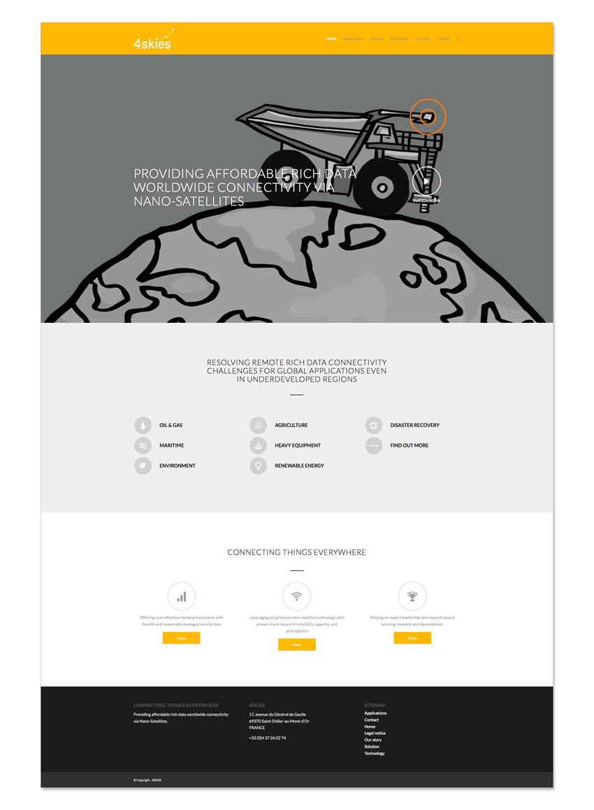 4skies website homepage