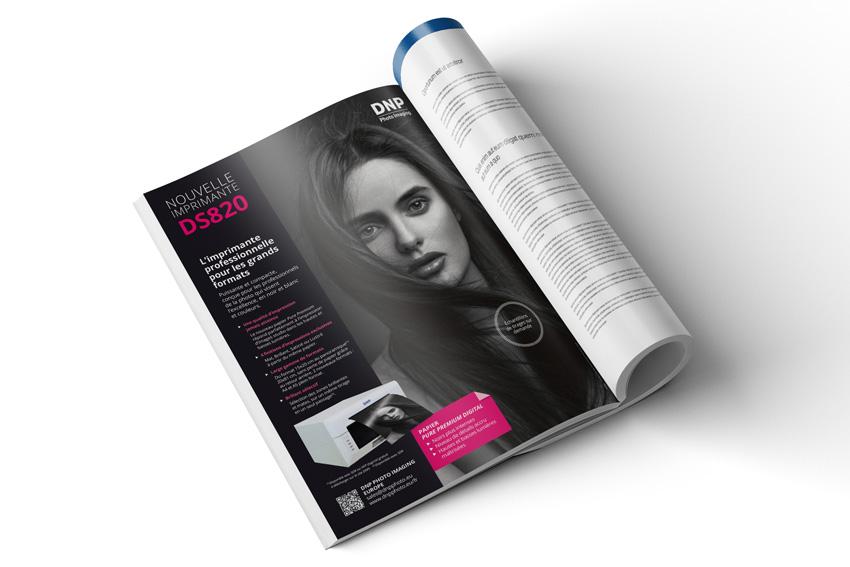 publicité pour l'imprimante DS820