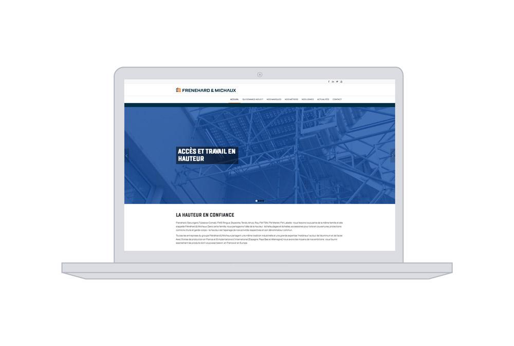 site web - goupe Frenehard & Michaux