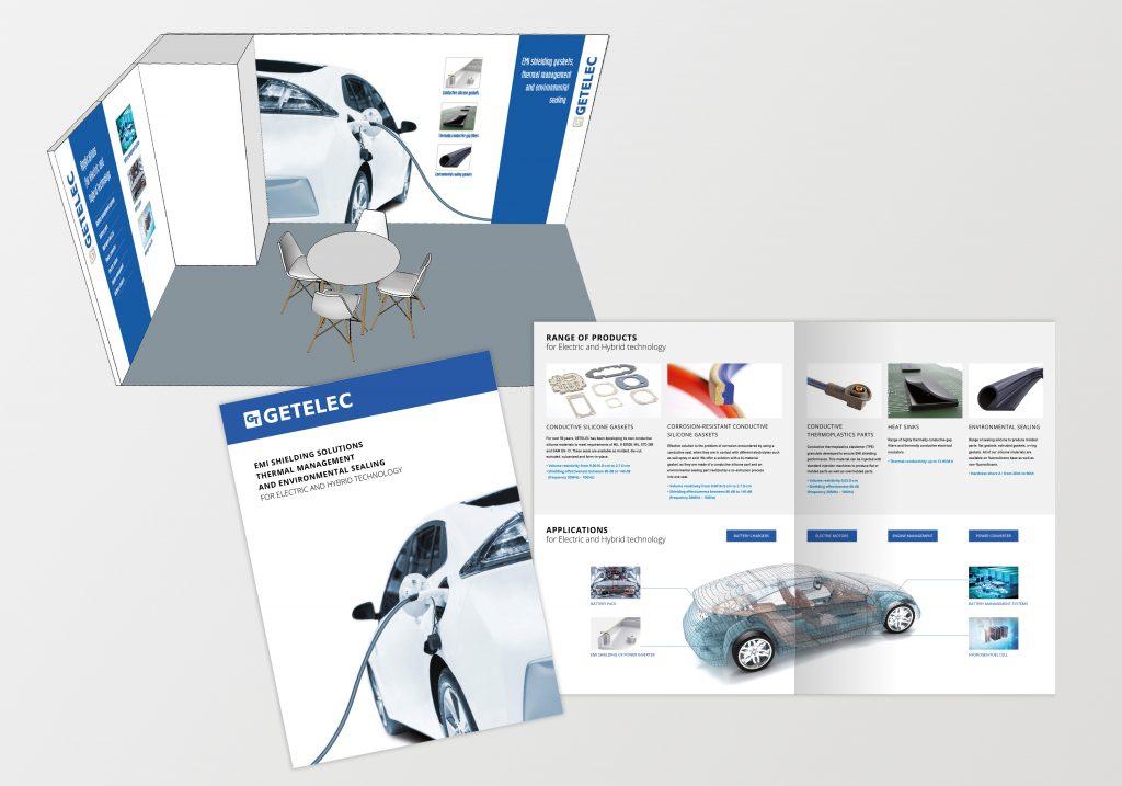 Stand et brochure Getelec